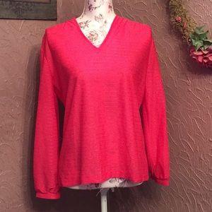 Tops - Cute pink sheer blouse